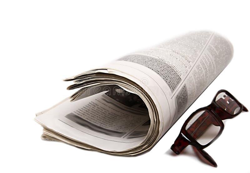 As notícias forram com vidros foto de stock royalty free