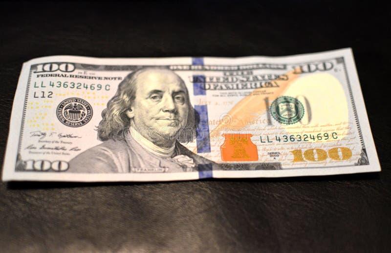 As notas da textura do americano cem do dinheiro projetam Investimento, conceito financeiro, da doação, ou imagem de stock royalty free