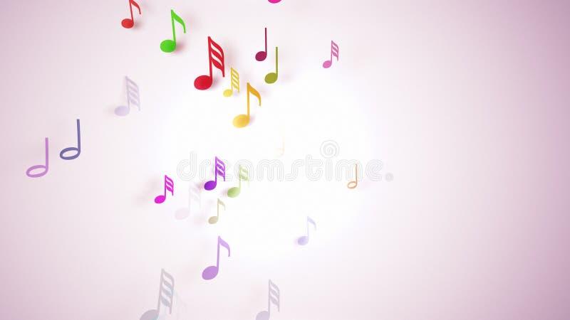 As notas musicais com profundidade de campo ilustração royalty free
