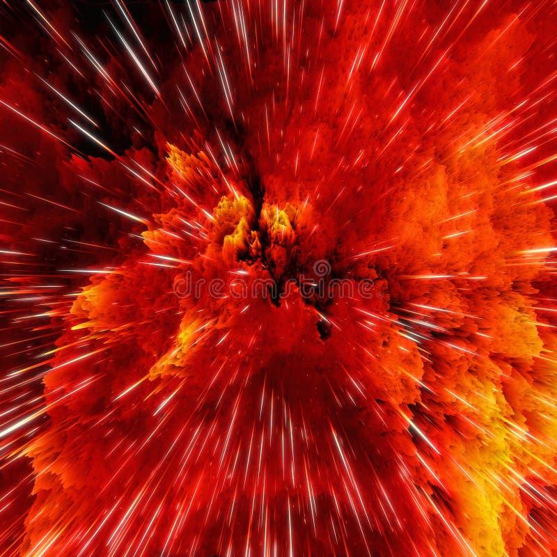 As nuvens coloridas da galáxia e o golpe grande abstraem a textura da estrela ilustração royalty free