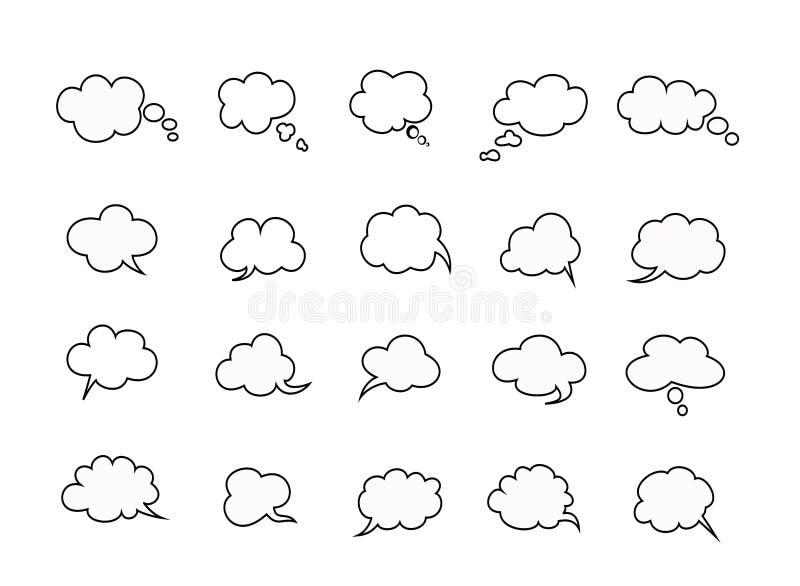 As nuvens falam bolhas ilustração royalty free