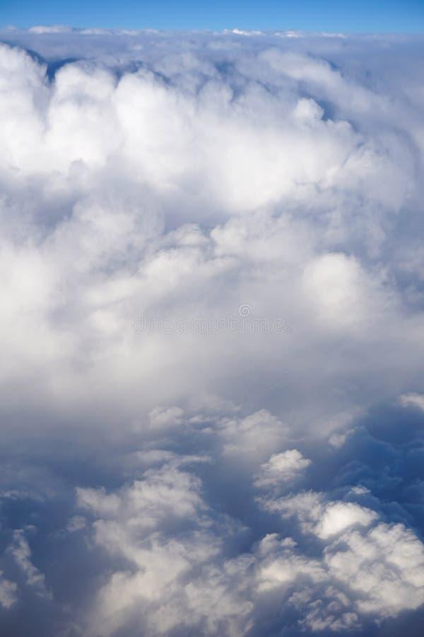 As nuvens gostam do algodão doce foto de stock