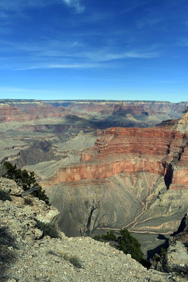 As nuvens moldaram a sombra sobre o Grand Canyon fotos de stock royalty free