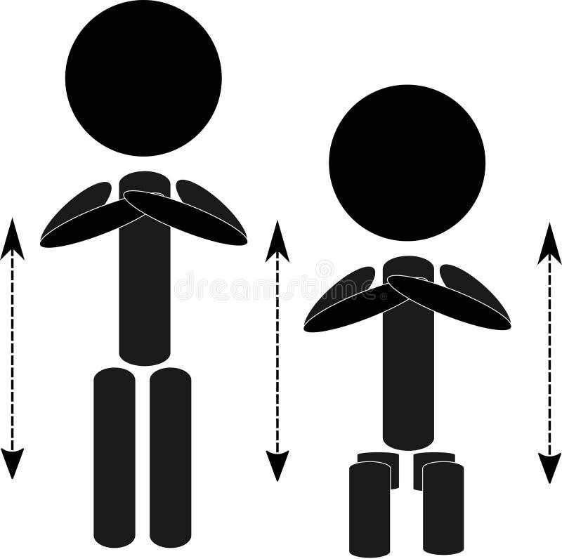 As ocupas do corpo malham a figura referência da vara ilustração royalty free