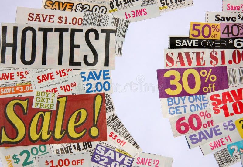 As ofertas as mais quentes da venda e do vale fotos de stock