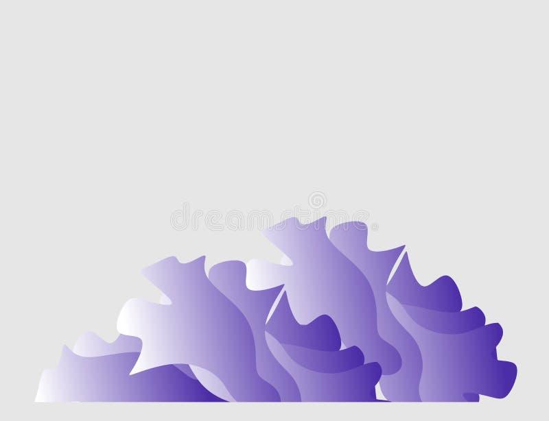 As ondas abstraem o logotype em claro - fundo cinzento ilustração do vetor