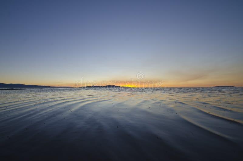 As ondas calmas do Great Salt Lake foto de stock