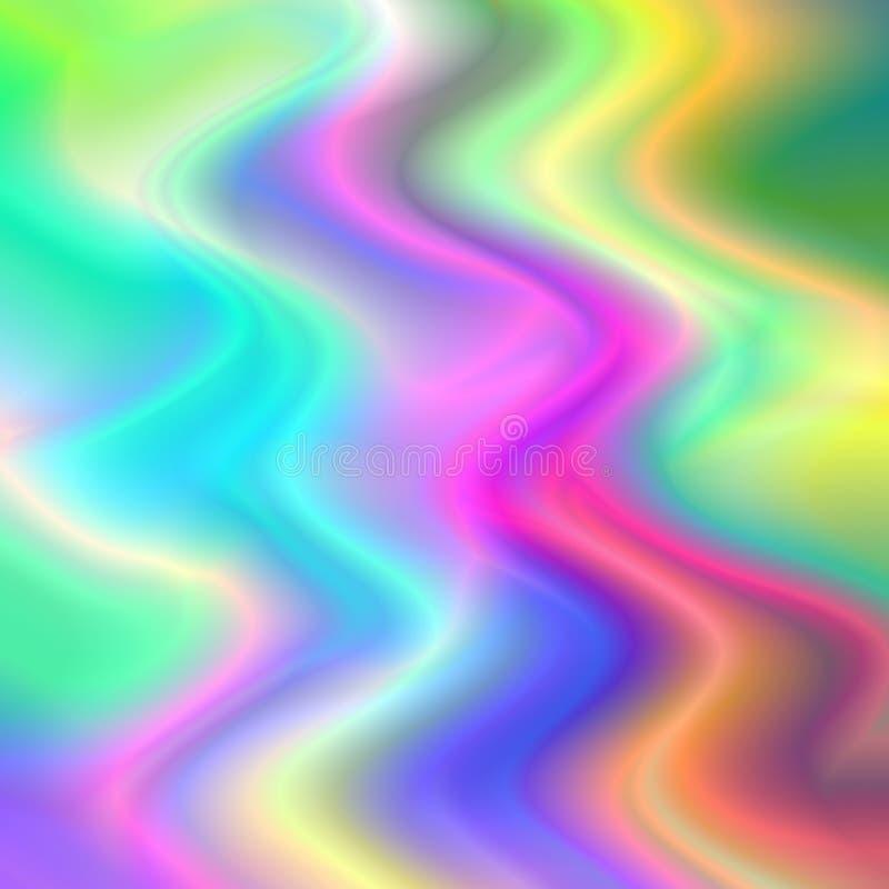 As ondas coloridos modelam o fundo psicadélico ilustração stock