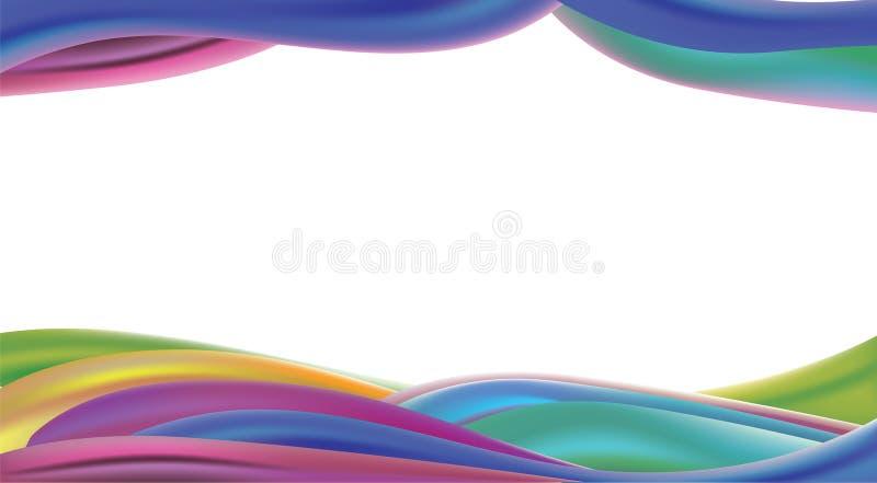 As ondas da cor abstraem o fundo com estilo do projeto do divertimento ilustração royalty free