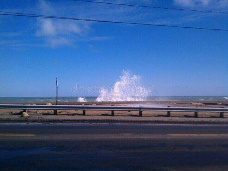 As ondas deixando de funcionar fotografia de stock