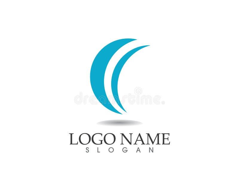 As ondas encalham os ícones app do molde do logotipo e dos símbolos ilustração do vetor