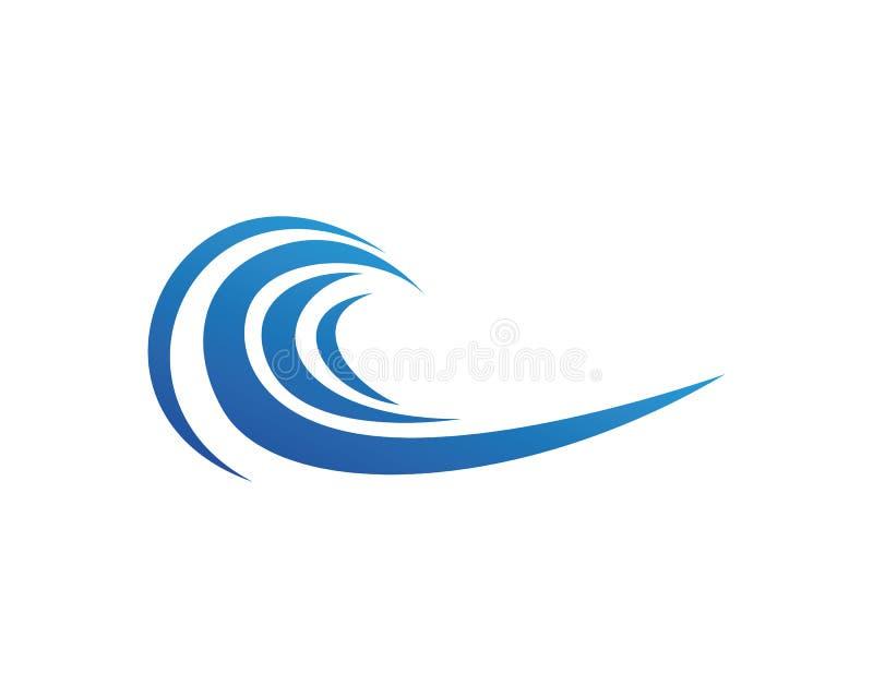 As ondas encalham os ícones app do molde do logotipo e dos símbolos ilustração stock