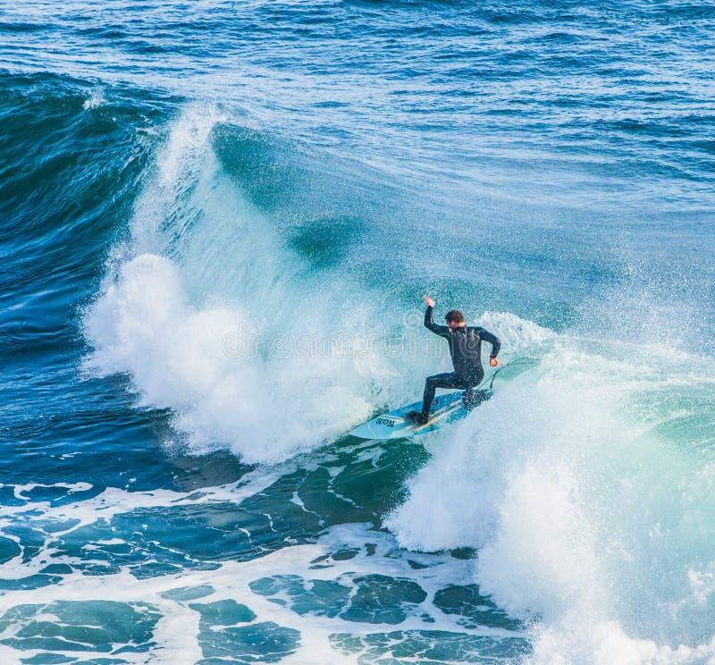 As ondas enormes mágicas na baía de Santa Barbara para fazer a isto um s imagem de stock royalty free