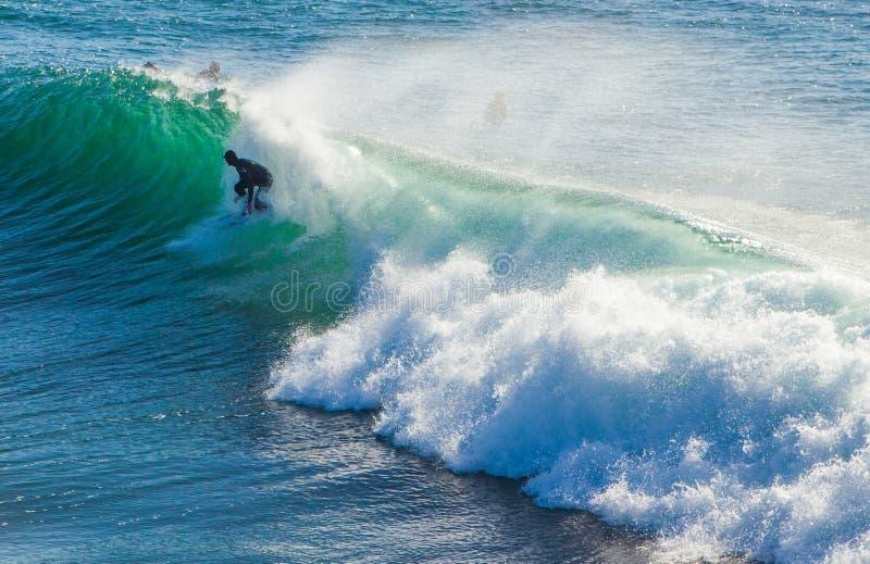 As ondas enormes mágicas na baía de Santa Barbara para fazer a isto um s imagem de stock