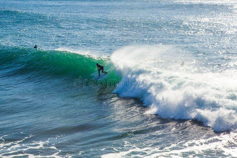 As ondas enormes mágicas na baía de Santa Barbara para fazer a isto um s foto de stock