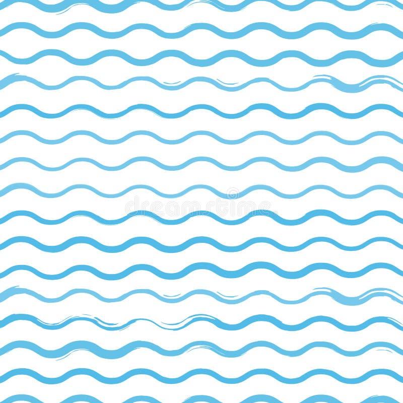 As ondas escovam a ilustração do fundo do teste padrão ilustração stock
