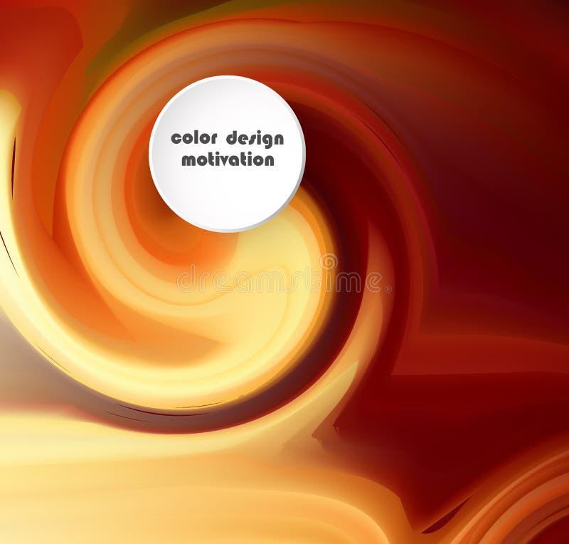 As ondas líquidas abstraem a composição Fundo amarelo alaranjado com linhas da onda Molde na moda do Web page com forma líquida ilustração stock
