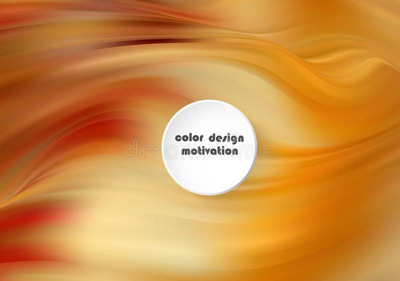 As ondas líquidas abstraem a composição Fundo amarelo alaranjado com linhas da onda Molde na moda do Web page com forma líquida ilustração royalty free
