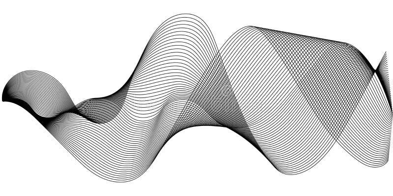 As ondas sadias da música ajustaram-se, fulgor de oscilação das ondas sadias, ilustração de intervalo mínimo da onda sadia do equ ilustração royalty free