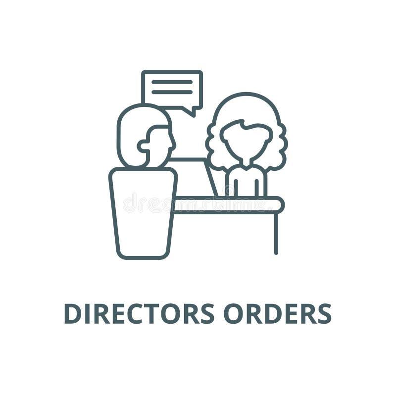 As ordens dos diretores alinham o ícone, vetor As ordens dos diretores esboçam o sinal, símbolo do conceito, ilustração lisa ilustração royalty free