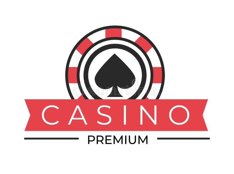 As pás isoladas clube do ícone do casino assinam a microplaqueta de pôquer ilustração stock