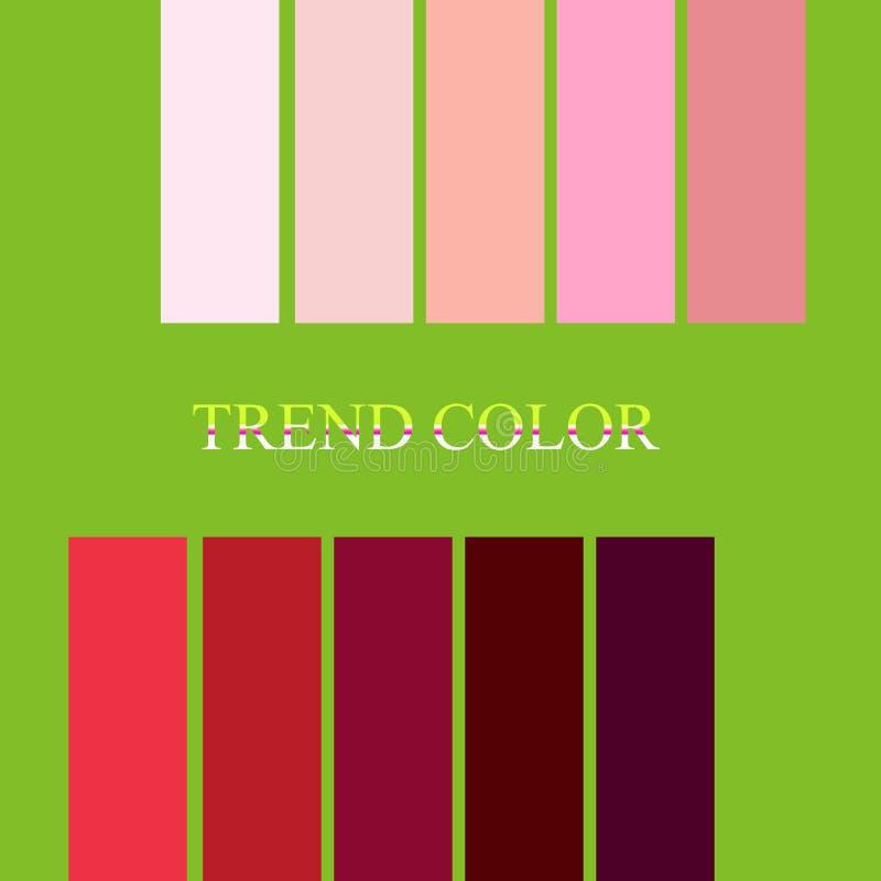 As paletas de cores da forma tendem no cal verde Tendência da cor 2019 de Pantone ilustração do vetor