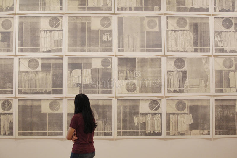As paredes da arte imagens de stock royalty free