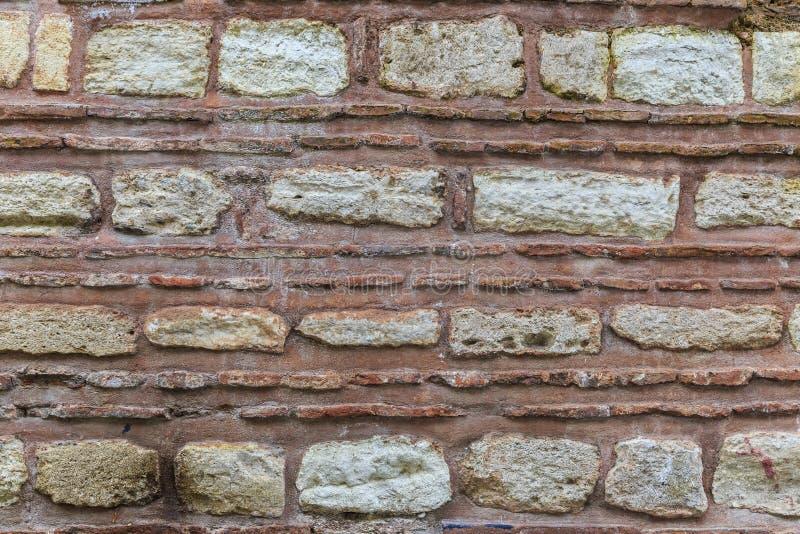 As paredes de alvenaria velhas imagens de stock
