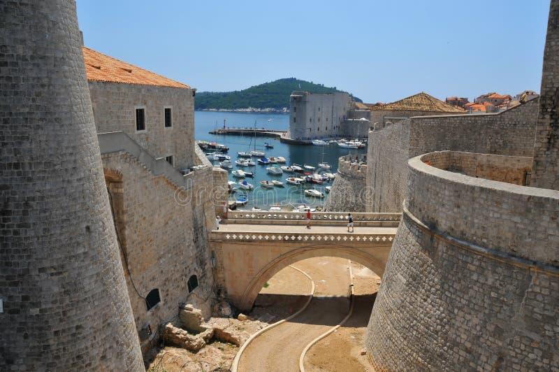 As paredes de Dubrovnik imagem de stock royalty free
