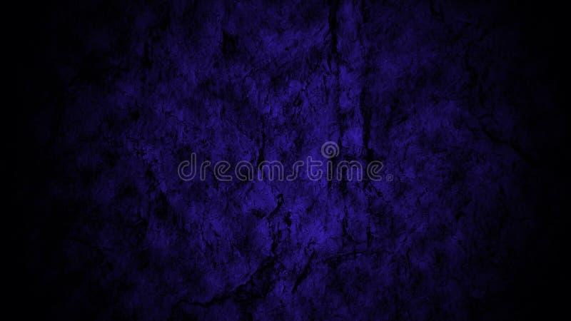 As paredes do Dungeon iluminaram-se com luz azul fotografia de stock royalty free