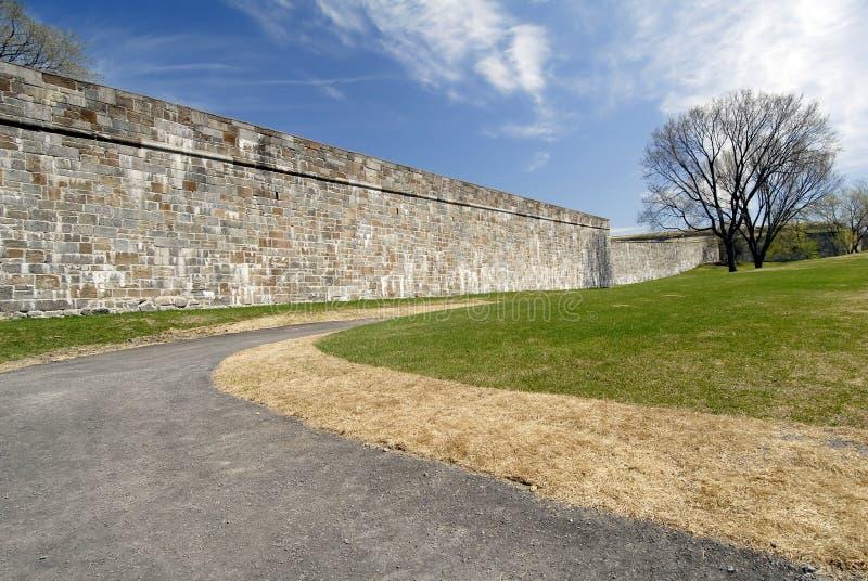 As paredes fortificadas de Quebeque imagens de stock royalty free
