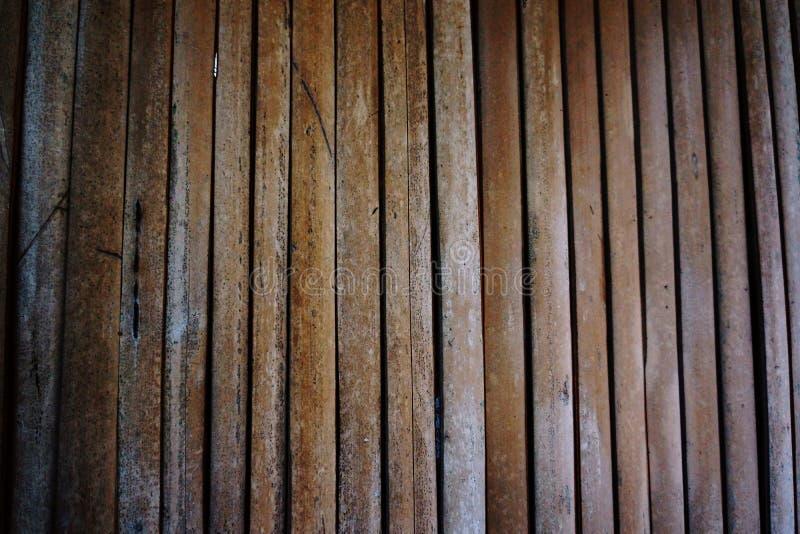 As paredes são feitas do bambu fotografia de stock