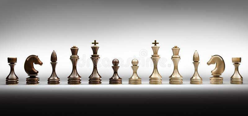 As partes de xadrez ajustaram um completo ilustração do vetor