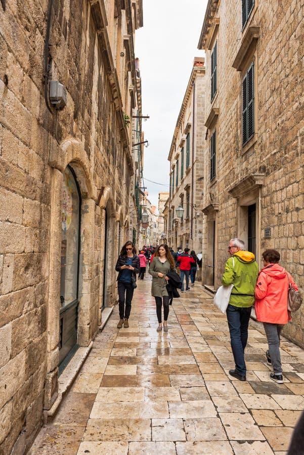 As passagens de Dubrovnik imagens de stock