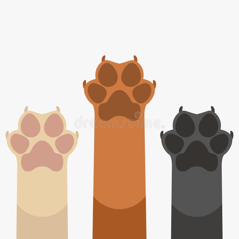As patas levantam animais de estimação ilustração do vetor