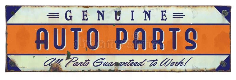 As peças de automóvel genuínas assinam o vintage do Grunge foto de stock