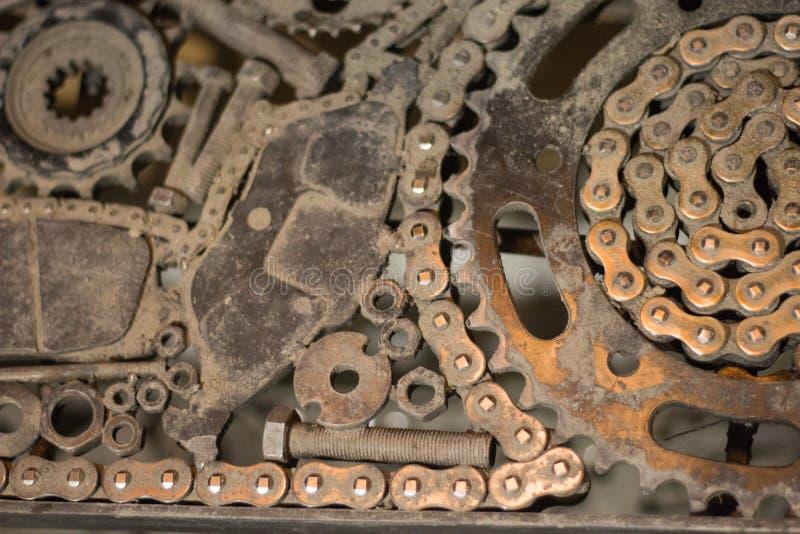As peças de metal são conectadas entre si no mesmo plano imagem de stock royalty free