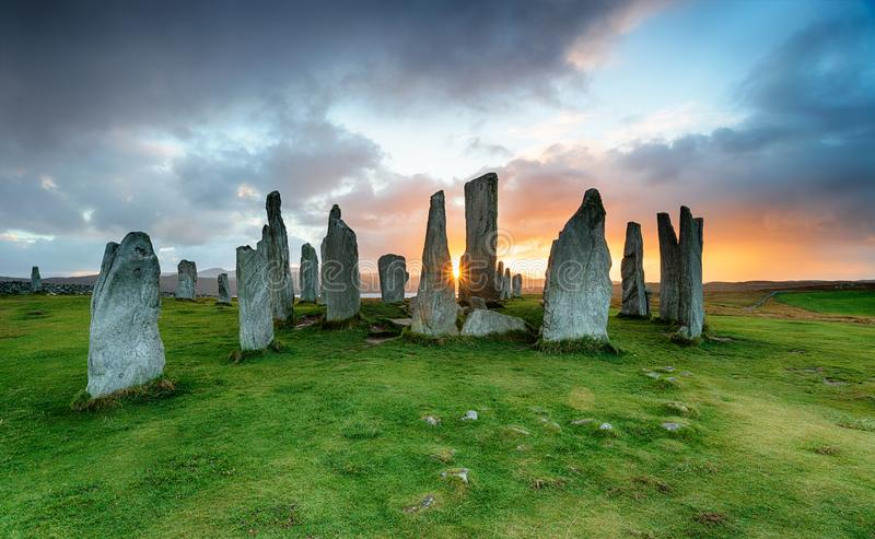 As pedras de Callanish na ilha de Lewis foto de stock