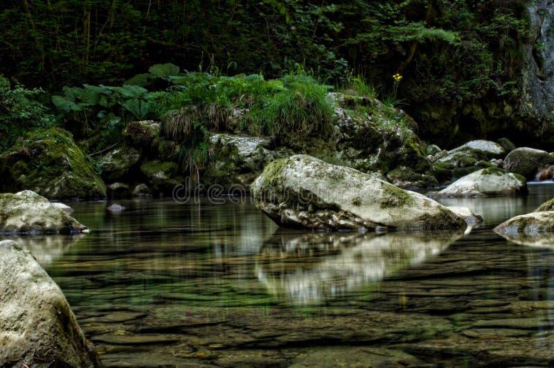 As pedras do rio imagens de stock