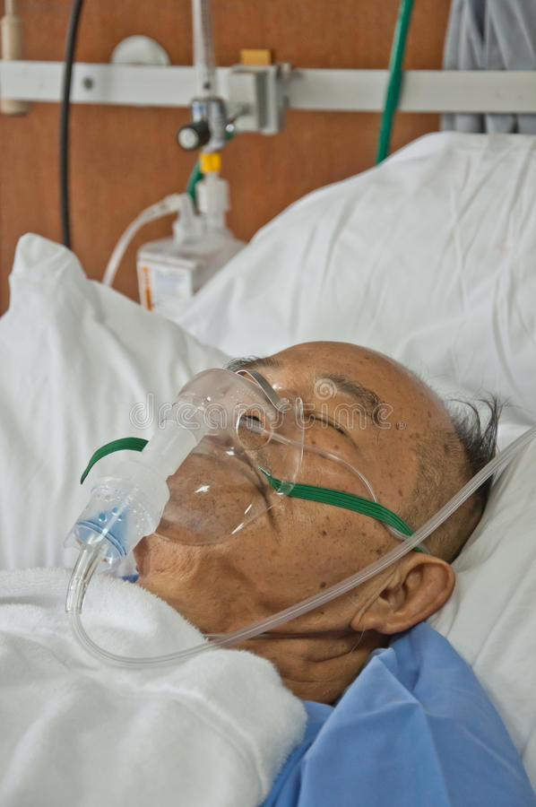 As pessoas idosas patien no hospital fotografia de stock
