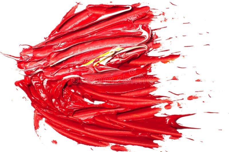 As pinturas de óleo dos artistas coloriram o fundo ilustração stock
