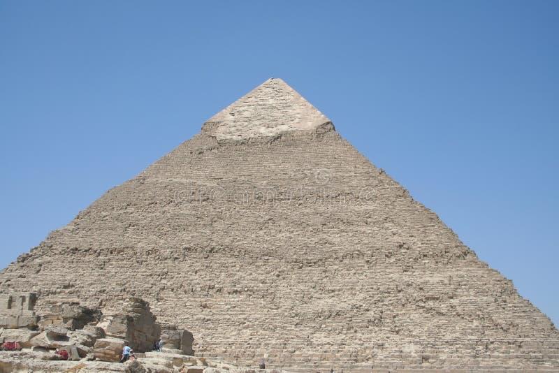 As pirâmides em gaza fotografia de stock