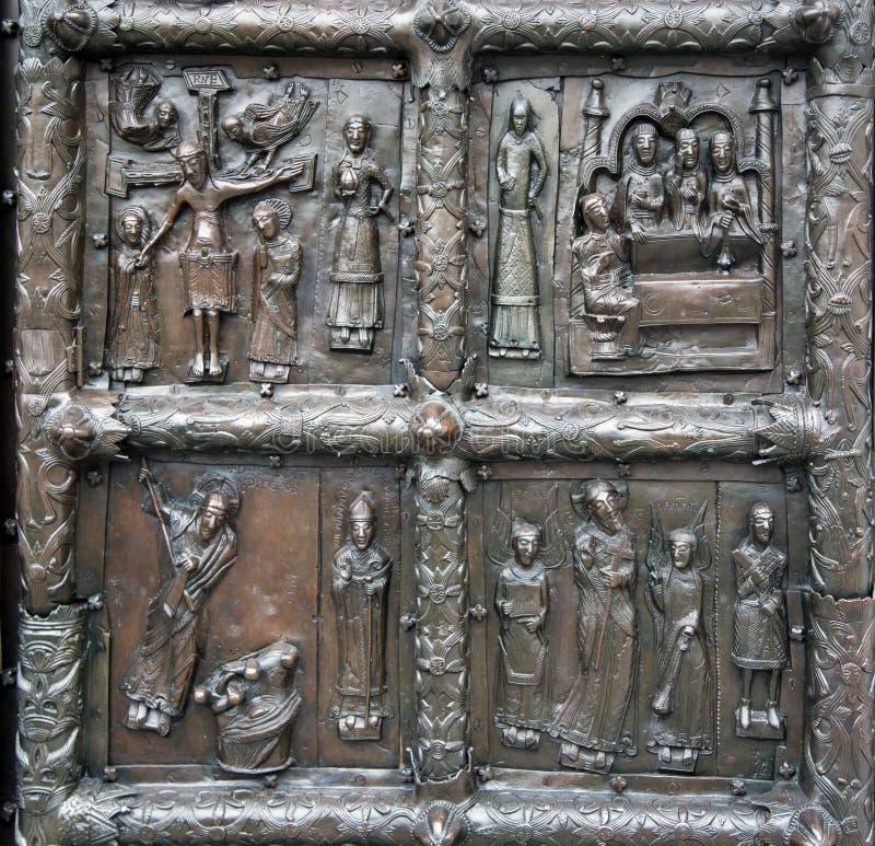 As portas de Magdeburgo - as portas do St Sophia Cathedral em V fotografia de stock