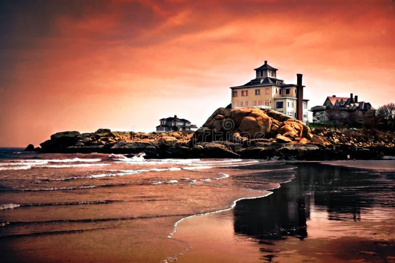 As praias do cabo Ann, Massachusetts foto de stock royalty free