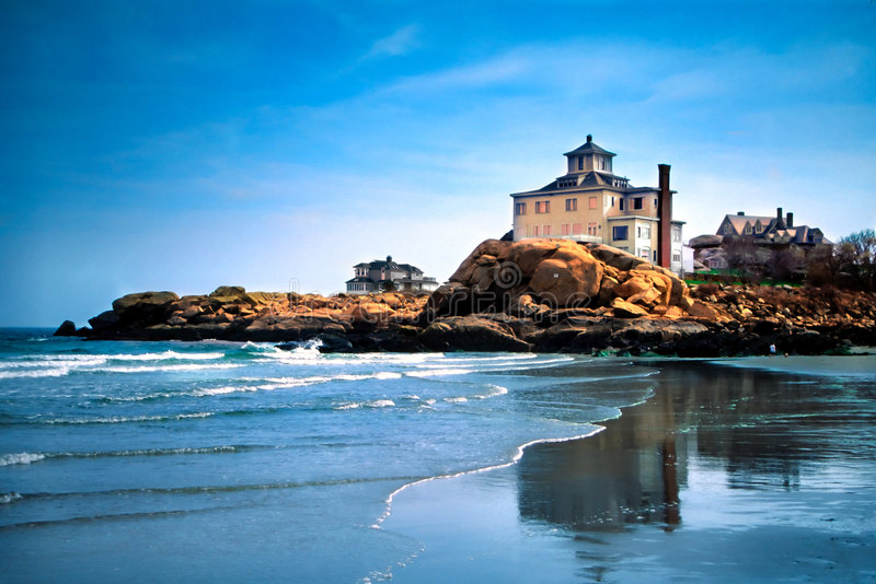 As praias do cabo Ann, Massachusetts fotografia de stock royalty free