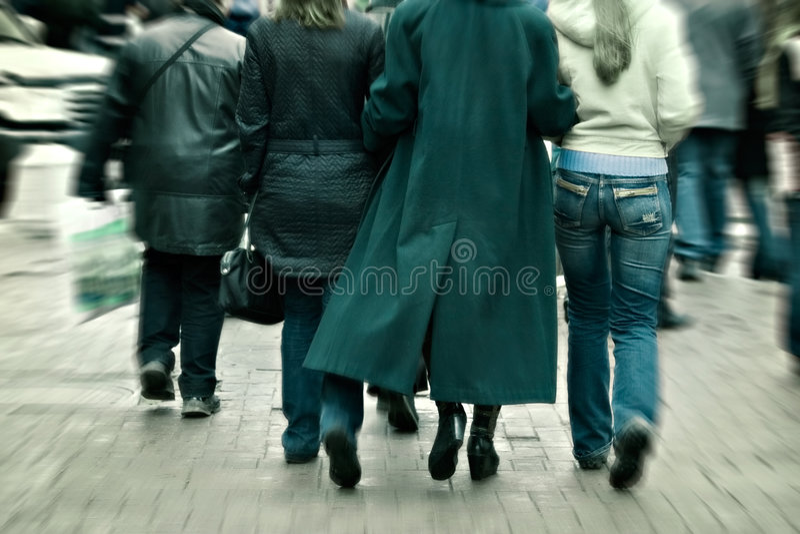 As pressas da multidão da cidade foto de stock