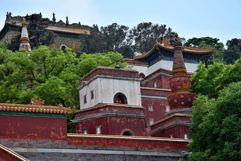 As quatro grandes regiões com base no palácio de verão no Pequim imagens de stock