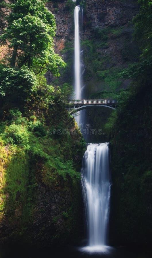 As quedas bonitas de Multnomah, Oregon foto de stock