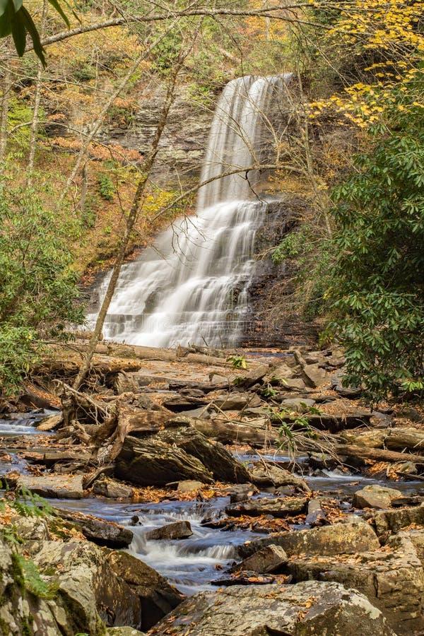 As quedas das cascatas, Giles County, Virgínia, EUA fotografia de stock royalty free