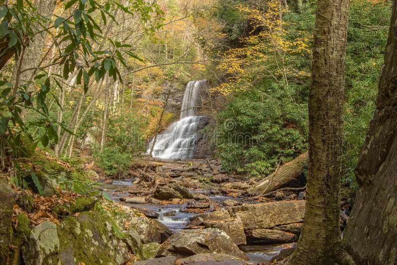 As quedas das cascatas, Giles County, Virgínia, EUA imagens de stock royalty free